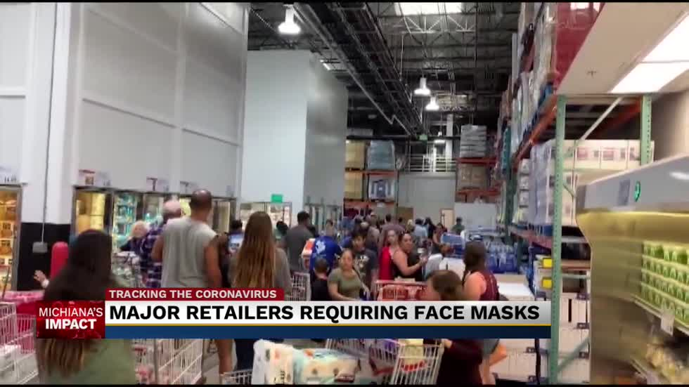 Face masks now required at biggest retailers, including Walmart and Meijer