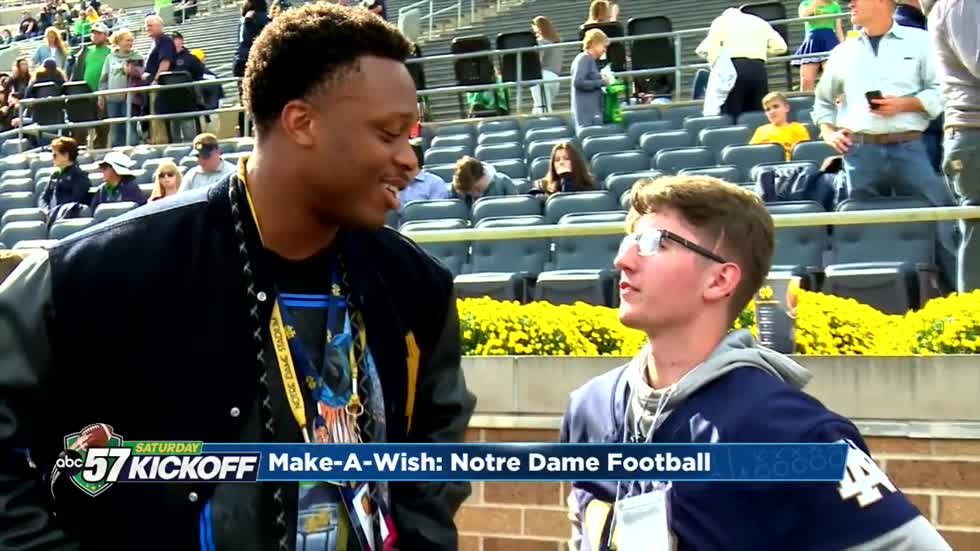 Make-A-Wish recipient gets unprecedented access to Notre Dame football team