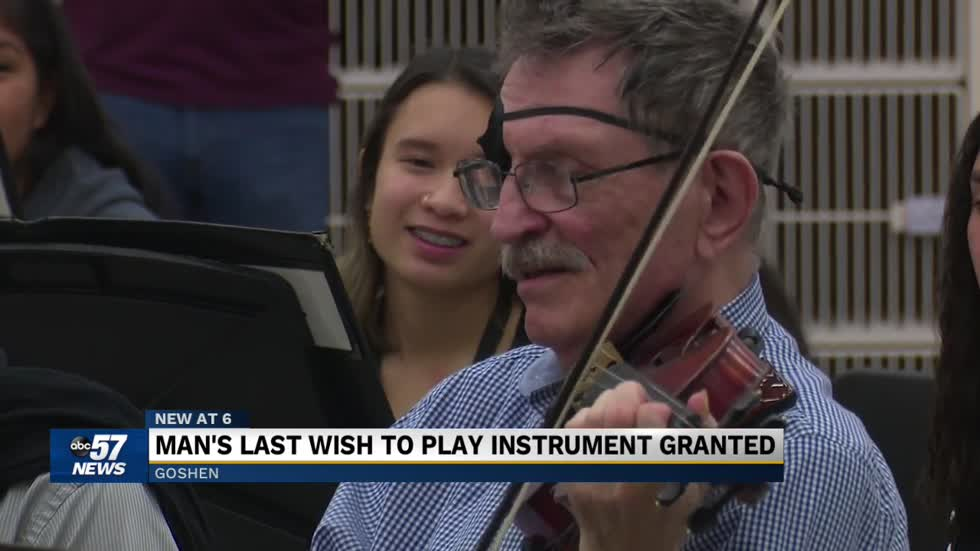 Man's last wish to play instrument granted