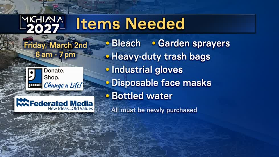 March 2: ABC57 collects donations for residents affected by flood