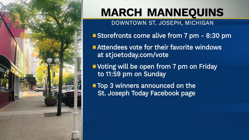 Downtown St. Joseph celebrating small businesses with their March Mannequin event