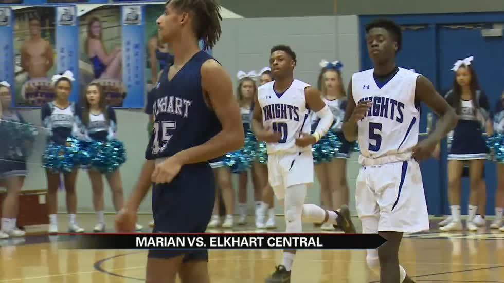 Marian boys roll past Elkhart Central on hardwood