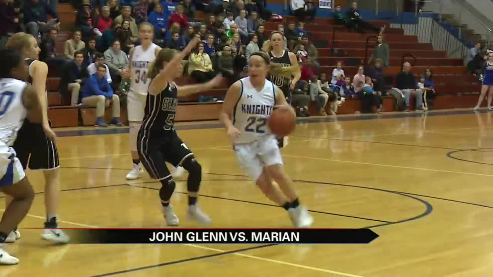 Marian hoops honors 1,000-point scorers as girls beat Glenn