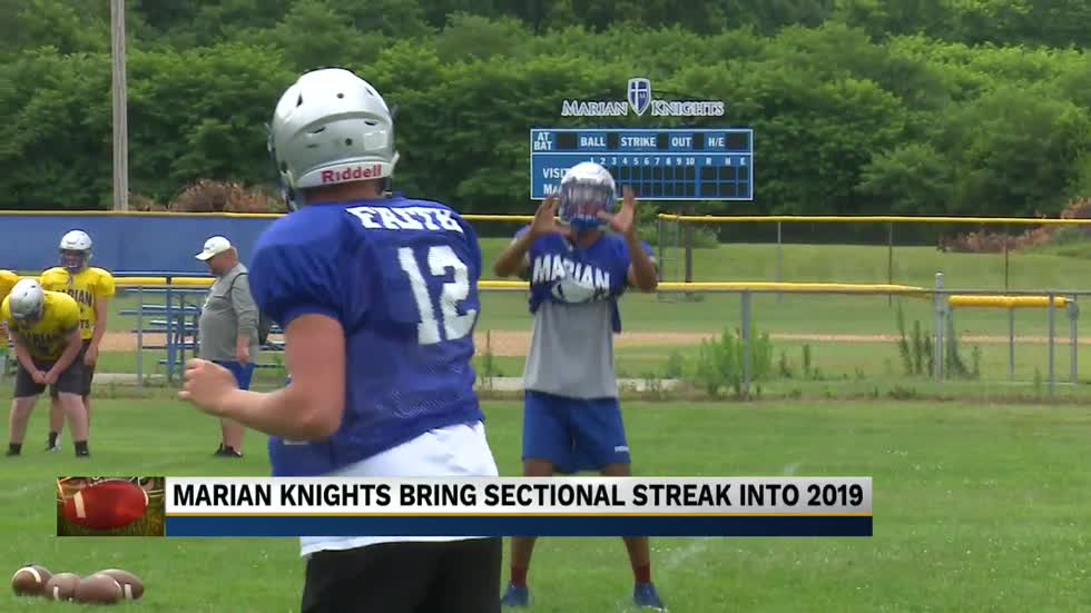 Marian football brings sectional title streak into 2019