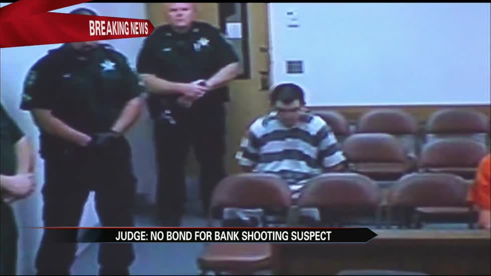 Judge: No bond for Florida bank shooting suspect
