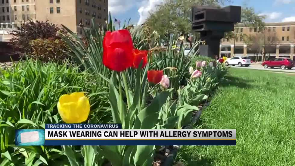 Mask wearing can help with allergy symptoms