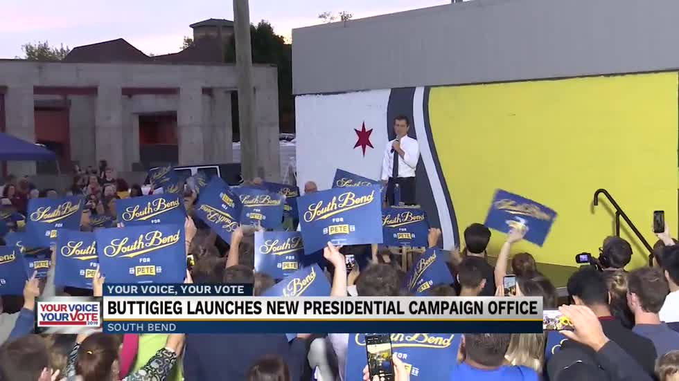 Mayor Buttigieg opens first Indiana field office in South Bend