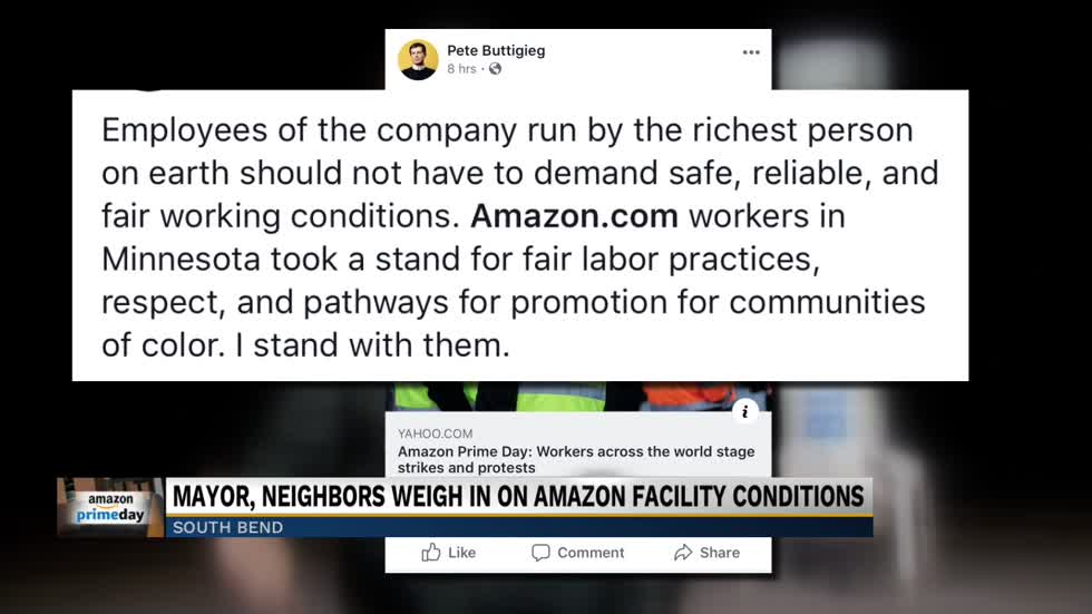 South Bend Mayor stance on Amazon protests in Minnesota raising questions at home