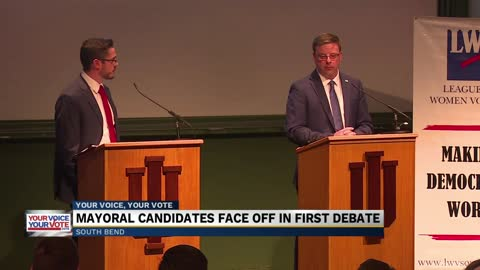 South Bend Mayoral candidates face off in first debate