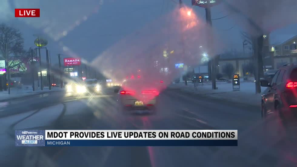 MDOT representative gives live update on road conditions