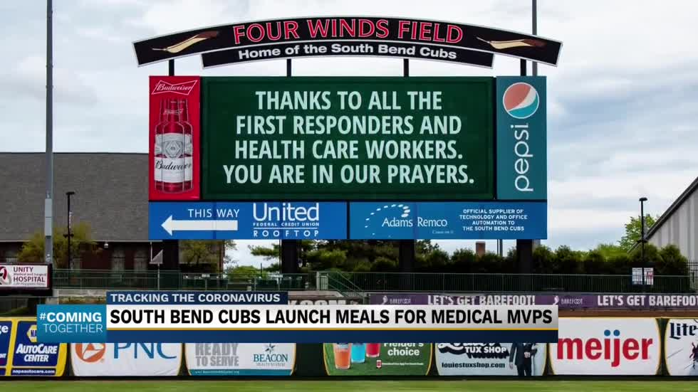South Bend Cubs donating meals to 'Medical MVPs'