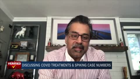 COVID-19 treatments and spiking case numbers