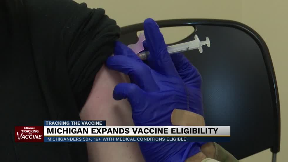 Michigan expands vaccine eligibility to all 50+, some 16+
