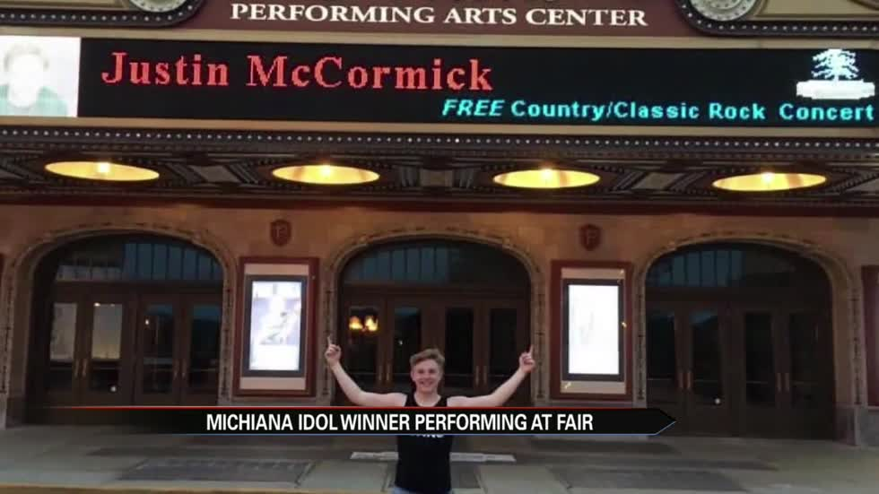 Michiana Idol contestant performs at hometown fair