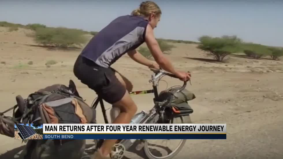 Michiana man returns from four-year renewable energy trip around the world