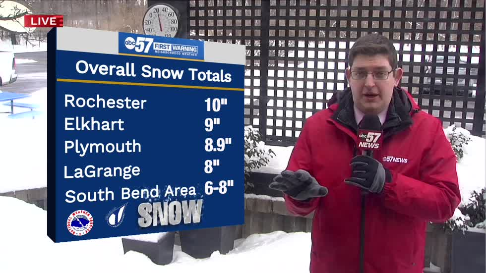 South Bend snow depth highest since 2011
