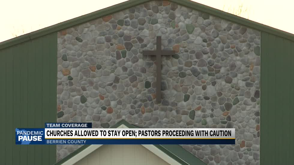 Michigan churches allowed to stay open during shutdown