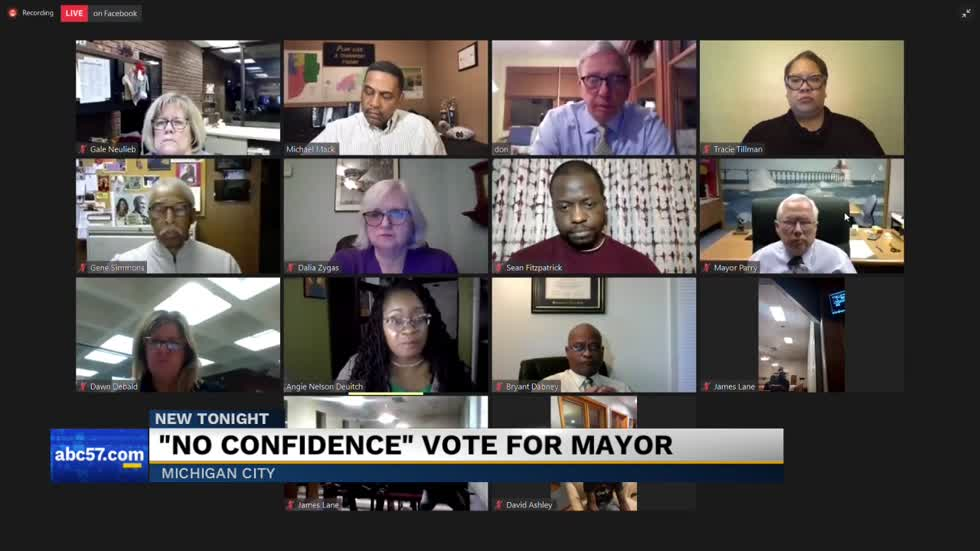Michigan City City Council passes resolution of no confidence in mayor