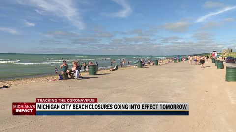 Michigan City to close all beaches Friday