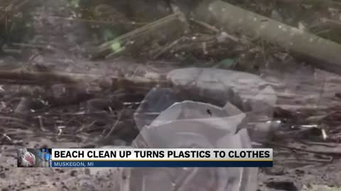 Michigan College students turn plastic waste along coast into clothing
