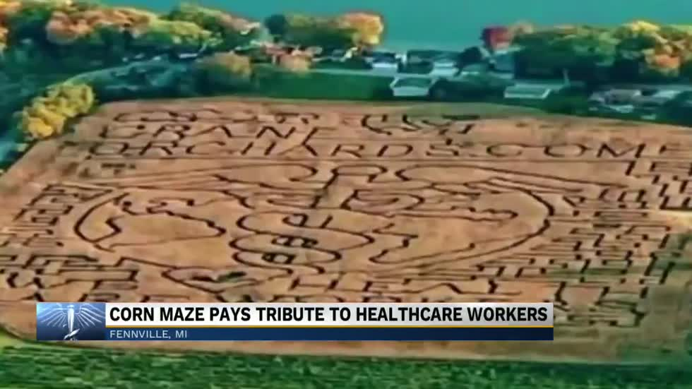 Michigan corn maze honors healthcare workers