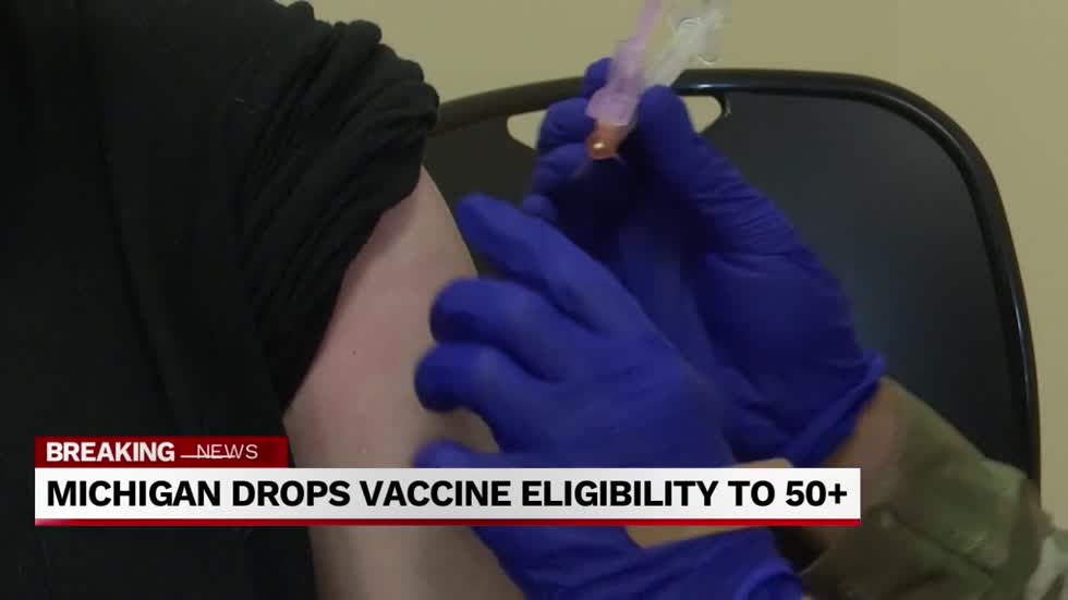 Michigan expands vaccine eligibility to 50+