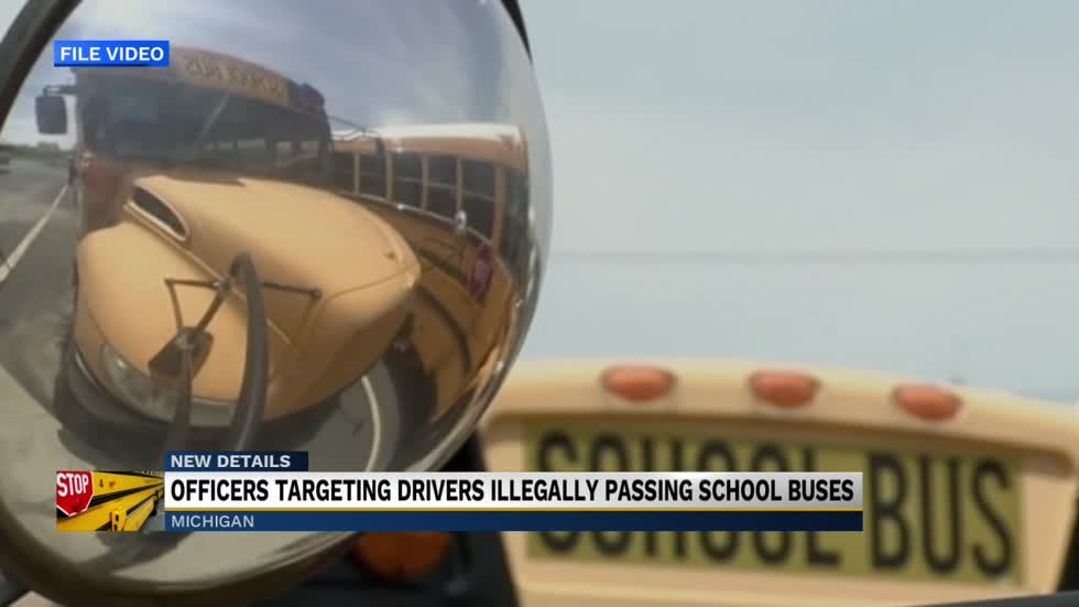 Michigan law enforcement promote National School Bus Safety Week