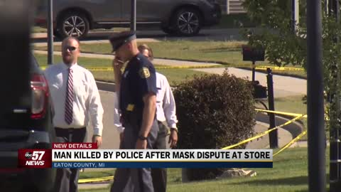 Michigan man killed by police after stabbing elderly man in mask...