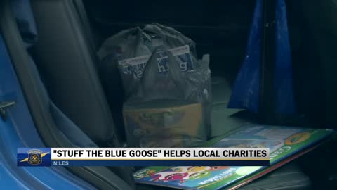 "Michigan State Police host ""Stuff a Blue Goose"" event in Niles"
