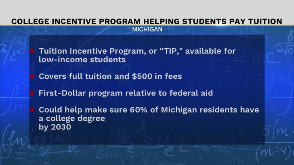 Michigan students eligible for help paying college tuition