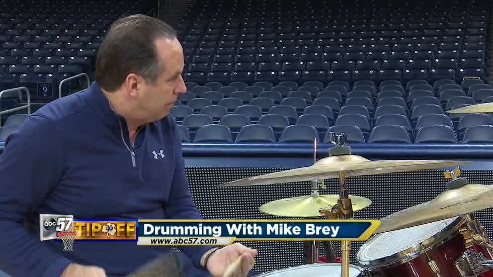 Mike Brey's secret passion - playing the drums