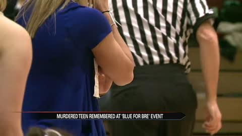Mishawaka Cavemen went 'Blue for Bre' to honor slain cheerleader