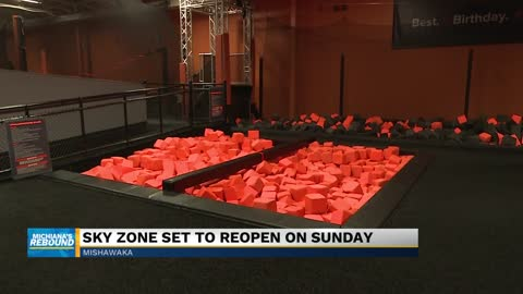 Mishawaka Sky Zone reopening on Sunday; customers are not required to wear masks