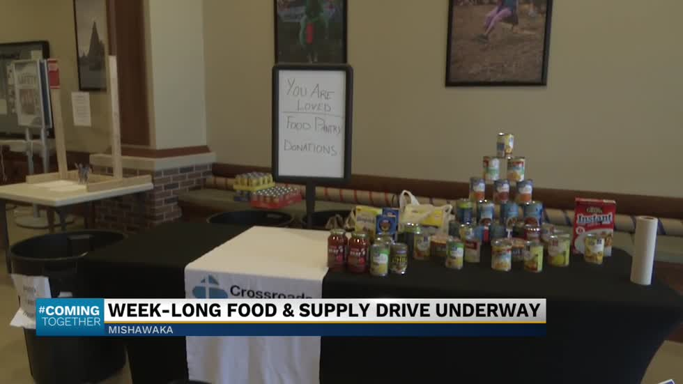 Mishawka Parks and Recreation Department holding a supply and food drive