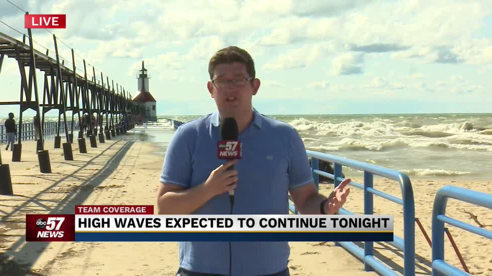 More dangerous waves on Lake Michigan expected through tonight