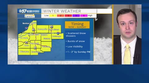 Snow remains in the forecast through the rest of the weekend