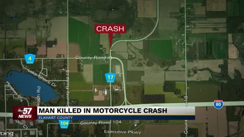 Motorcyclist killed in crash in Elkhart County