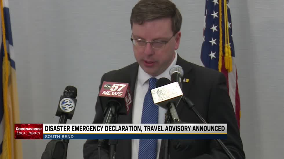 South Bend mayor announces disaster emergency declaration, travel advisory