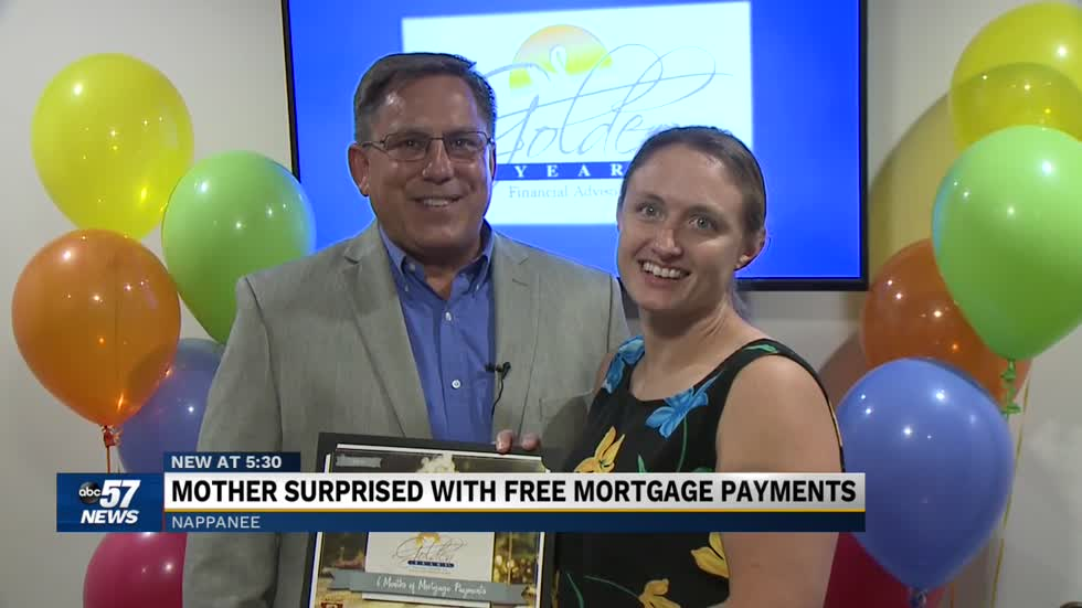 Nappanee family receives a gift. It involves mortgage payments