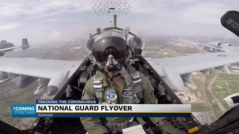 National Guard flyovers honor frontline workers