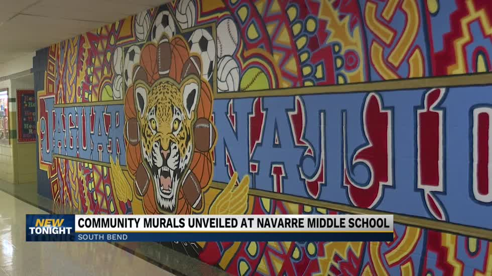 Navarre Middle School unveiled new murals in school