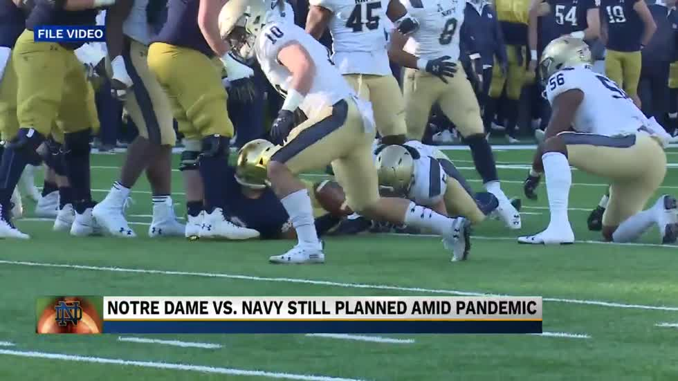 Navy football team prepping for Notre Dame
