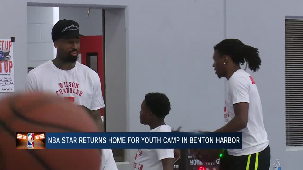 NBA's Wilson Chandler returns home to Benton Harbor for inaugural youth camp