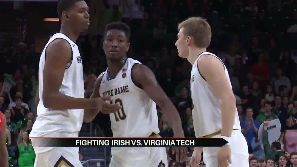ND men fall again to Virginia Tech