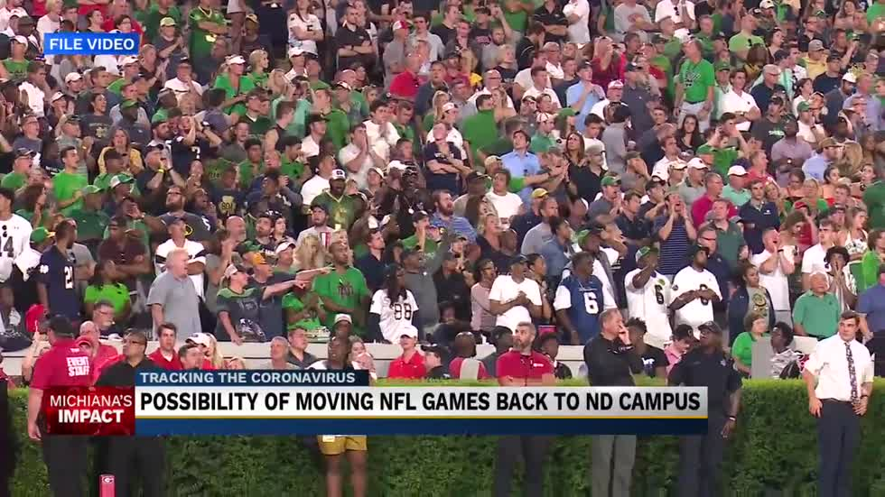 Notre Dame football leaves option to move certain games back to campus