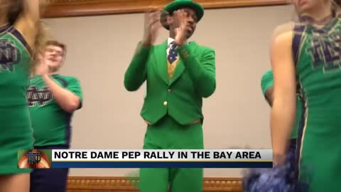 ND holds pep rally before game at Stanford