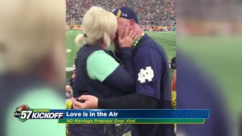 Elkhart County couple gets engaged at Notre Dame Stadium