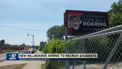 New billboards aim to recruit Benton Harbor students