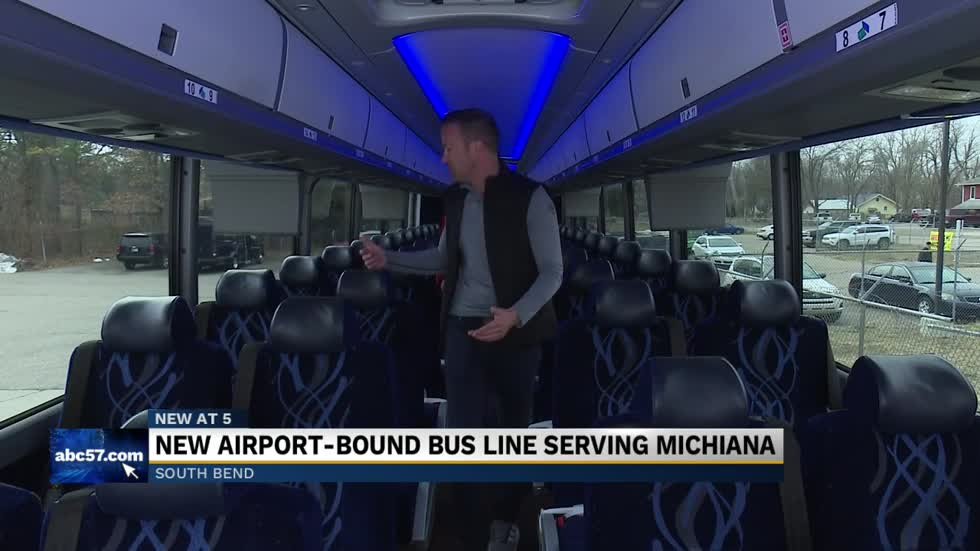 New Chicago airport bus service comes to South Bend
