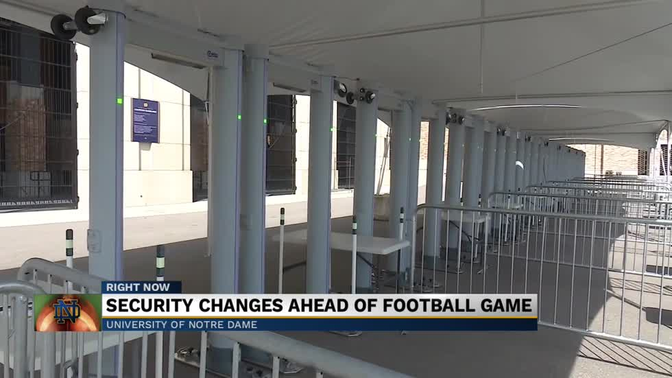 New security upgrades for Notre Dame football games
